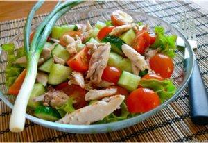 Как приготовить вкусный и низкокалорийный салат с курицей