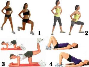 Эффективные упражнения для похудения живота и бедер