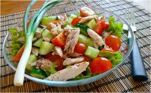 Диетические салаты простые и вкусные