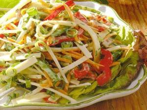 диетический салат с любым видом мяса рецепт фото