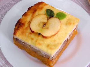 Творожная запеканка с яблоком фото