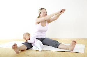 После родов вам поможет особая гимнастика для похудения .