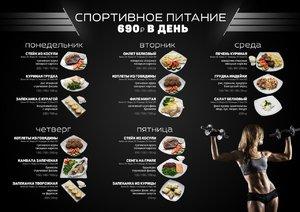 Таблица питания для спортсменов