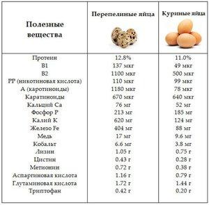 1 яйцо калорийность
